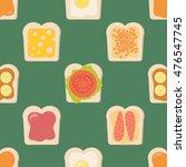 sandwiches. seamless vector... | Shutterstock .eps vector #476547745