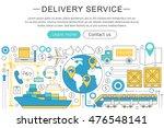 vector elegant thin line flat... | Shutterstock .eps vector #476548141