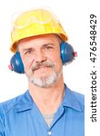 smiling adult worker has a rest ... | Shutterstock . vector #476548429