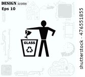 throw away the trash icon ... | Shutterstock .eps vector #476551855