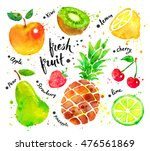 hand drawn watercolor colorful... | Shutterstock . vector #476561869
