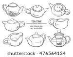 teapots set | Shutterstock .eps vector #476564134