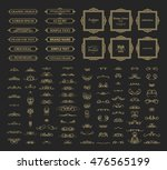 vintage set exclusive borders... | Shutterstock . vector #476565199
