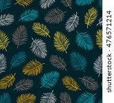 tropical trendy seamless... | Shutterstock . vector #476571214