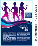 fitness silhouettes . women ... | Shutterstock .eps vector #476572381