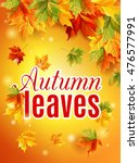 Bright Fall Poster With Warm...