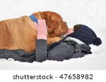Huge Playful Dog And Her Maste...