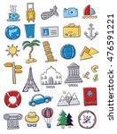 set of travel doodles | Shutterstock .eps vector #476591221