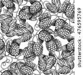 hop vector seamless pattern... | Shutterstock .eps vector #476595769
