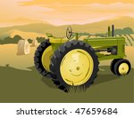 Illustration Of An Old Tractor...