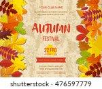 autumn festival background.... | Shutterstock .eps vector #476597779