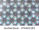 background of blue mosaic with... | Shutterstock . vector #476601181