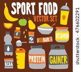 sport food nutrition objects... | Shutterstock .eps vector #476602291