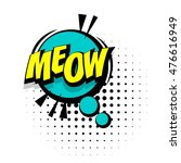 Comic Text Meow Sound Effects...