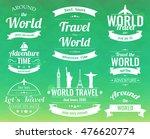 set of vintage travel badges... | Shutterstock .eps vector #476620774