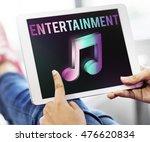 digital music streaming... | Shutterstock . vector #476620834