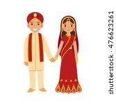 indian wedding couple in... | Shutterstock .eps vector #476623261