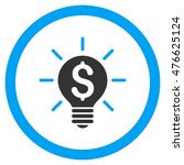 business idea bulb rounded icon....   Shutterstock .eps vector #476625124
