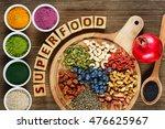superfoods as acai  turmeric ... | Shutterstock . vector #476625967