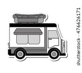 hot dog truck delivery fast... | Shutterstock .eps vector #476626171