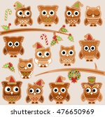 christmas holiday gingerbread... | Shutterstock .eps vector #476650969