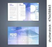 vector tri fold brochure flyer... | Shutterstock .eps vector #476658865