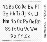 vintage english alphabet | Shutterstock .eps vector #476661841