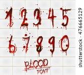 vector blood alphabet is... | Shutterstock .eps vector #476665129