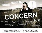 business problem concern... | Shutterstock . vector #476665735