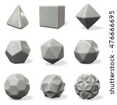 models of polyhedron. 3d... | Shutterstock . vector #476666695