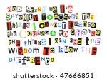 serenity prayer   ransom note... | Shutterstock . vector #47666851
