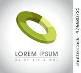 abstract green circle logo...   Shutterstock .eps vector #476680735