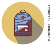 blue and red backpack with... | Shutterstock .eps vector #476688235