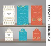 set of abstract invitation and... | Shutterstock .eps vector #476692891