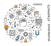 line web concept for science.... | Shutterstock .eps vector #476694475