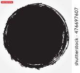 vector grunge circle.grunge... | Shutterstock .eps vector #476697607