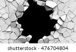 3d illustration of crashed wall ... | Shutterstock . vector #476704804