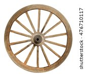 Single Wooden Cartwheel With...