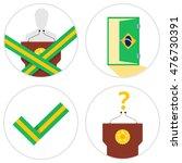 brazil president impeachment...   Shutterstock .eps vector #476730391