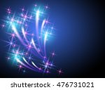 glowing background with sparkle ...