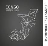 congo vector black contour... | Shutterstock .eps vector #476732347