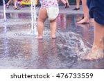 legs of children having fun... | Shutterstock . vector #476733559