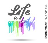 """poster """"life is wonderful"""" with ... 