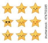 cute flat design golden star... | Shutterstock .eps vector #476753185