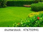 landscaped formal  front yard... | Shutterstock . vector #476753941
