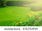 landscaped formal garden  front ... | Shutterstock . vector #476753959
