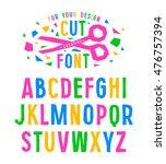 stock vector creative alphabet... | Shutterstock .eps vector #476757394