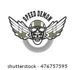 vector skull emblem in the... | Shutterstock .eps vector #476757595