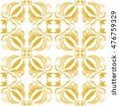 Tribal Seamless Gold Geometric...