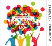 international youth day poster... | Shutterstock .eps vector #476765965